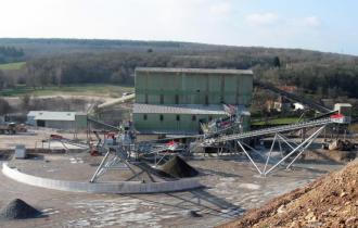LAFARGE Pont de Colonne : Modification des circuits Gravillons et Ballast