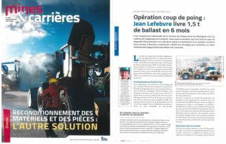 MINES ET CARRIERES / Extension Monaco Jean Lefebvre livre 1,5 Mt de ballast en 6 mois