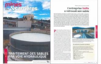 MINES ET CARRIERES / L'entreprise Vaills a retrouvé son sable