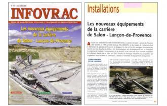 INFOVRAC : Les nouveaux équipements de la carrière de Salon Lançon de Provence