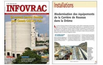 INFOVRAC : Modernisation des équipements de la Carrière de Roussas dans la Drôme