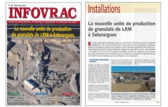 INFOVRAC : Nouvelle unité de production de granulats de LRM à Saturargues